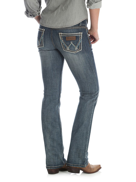 Wrangler Womens Retro Low Rise Sadie Boot Cut Jean 07MWZDW Back