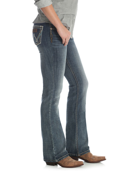 Wrangler Womens Retro Low Rise Sadie Boot Cut Jean 07MWZDW Side