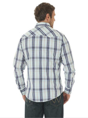 Wrangler Mens Long Sleeve Authentic Western Snap Shirt MVG151M Wrangler - J.C. Western® Wear