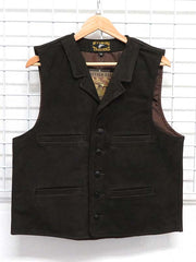 Men's Wyoming Traders Chocolate Buffalo Leather Vests BCHM BCH1 BCHL
