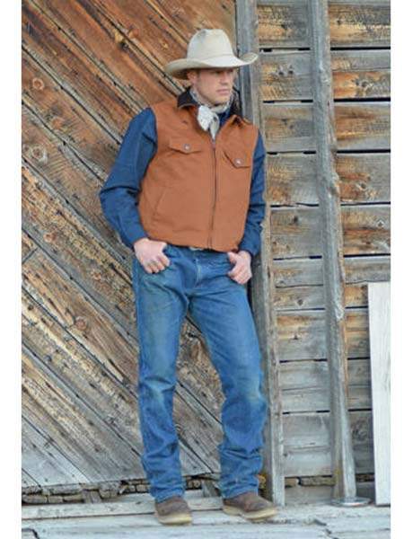 Men's Wyoming Traders Concealed Carry Canvas Vest CANVASVEST-TAN