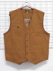 Men's Wyoming Traders Concealed Carry Tan Canvas Vest