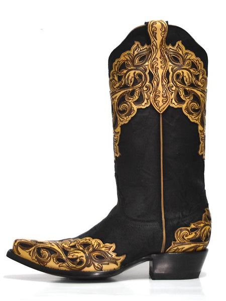 Old Gringo YL346-1 Womens Cowgirl Boots Mackenzie Black Side View