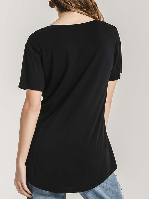 Z Supply Womens The Premium Sleek Jersey Pocket Tee ZT164211