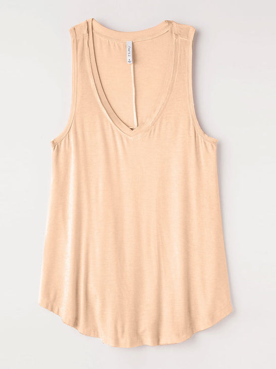 Z Supply ZT165101 Womens The Vagabond Tank Top Apricot on display
