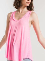 Z Supply Womens The Vagabond Neon Pink Tank Top ZT165101-NPK front side