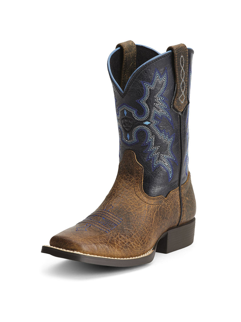 Ariat 10012794 Kid's Square Toe Tombstone Boot Black Brown