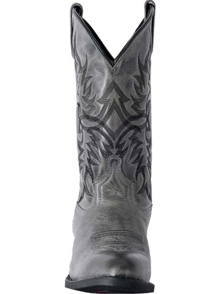 Laredo 68457 Mens Harding Waxy Leather Western Boots Grey