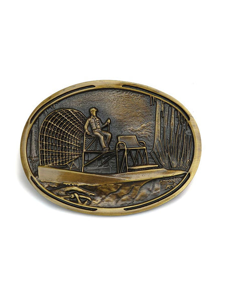 Montana Silversmiths Oval Airboat Ride Buckle front