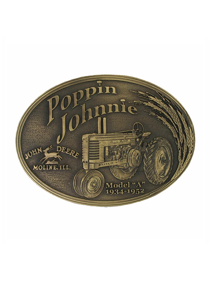 John Deere Model A Poppin Johnnie Heritage Attitude Belt Buckle A182JDC front