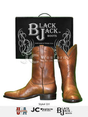 Men's Black Jack Ranch Hand Burnished Peanut Roper Boots 331-67 Black Jack Boots - J.C. Western® Wear