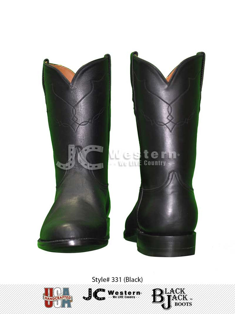 Men's Black Jack Ranch Hand Black Roper Boots 331 Black Jack Boots - J.C. Western® Wear