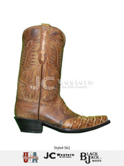 Men's Black Jack Alligator Burnished Tan Cognac Boots 562-53 - D Black Jack Boots - J.C. Western® Wear