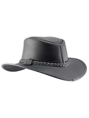 Head'n Home American Outback Bravo Black Leather Hat BACK