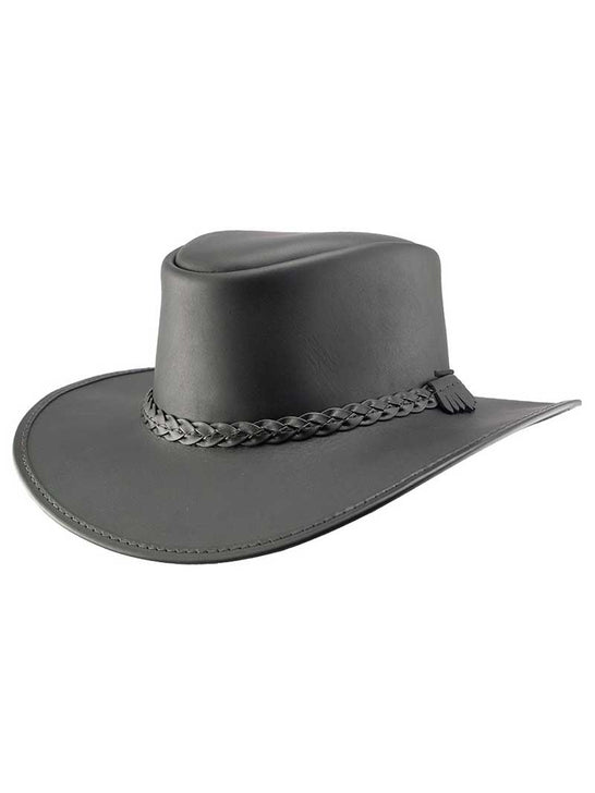 Head'n Home American Outback Leather Hat - Bravo Black