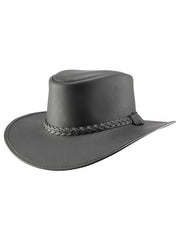 Head'n Home American Outback Bravo Black Leather Hat