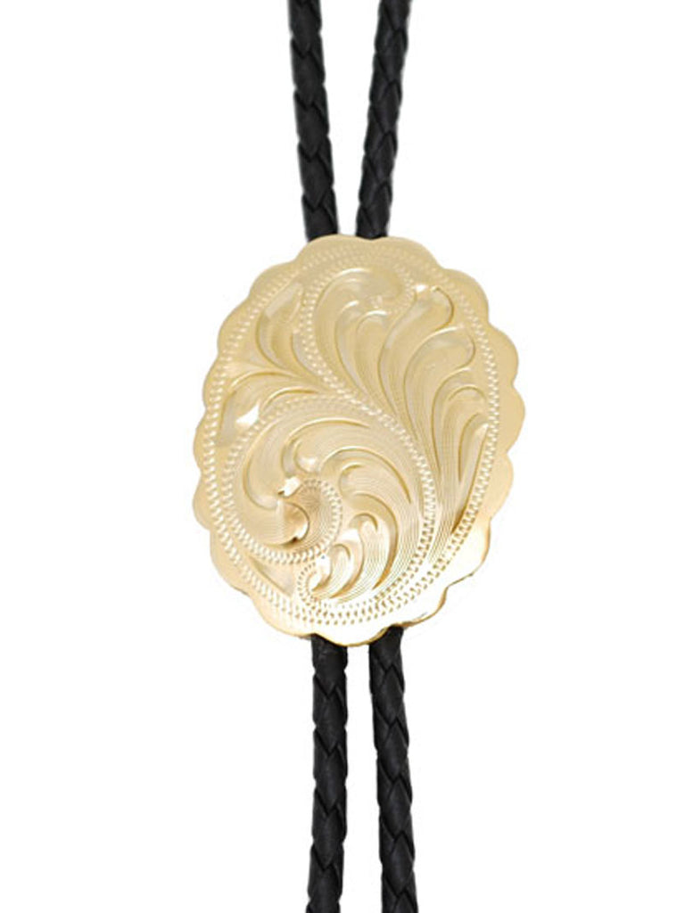 Gold Engraved Bolo Tie WE-BT-529