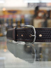 Buffalo Billfolds And Belts Basketweave Pattern Belt 8883-28 Buffalo Billfolds - J.C. Western® Wear