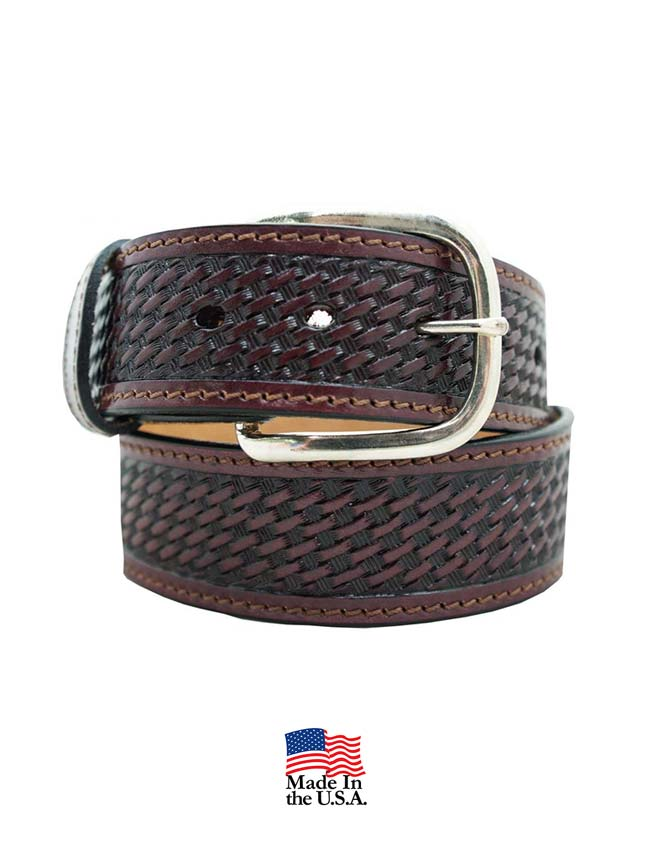 Gingerich Basketweave Pattern USA Made Work Belt 8883-28