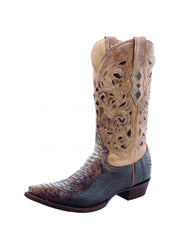 Men's Corral Brown Beige Python Laser Top Boot A1806-D Corral - J.C. Western® Wear