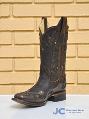 Corral R1304 Womens Distressed Brown Inlay Cowgirl Boots -D