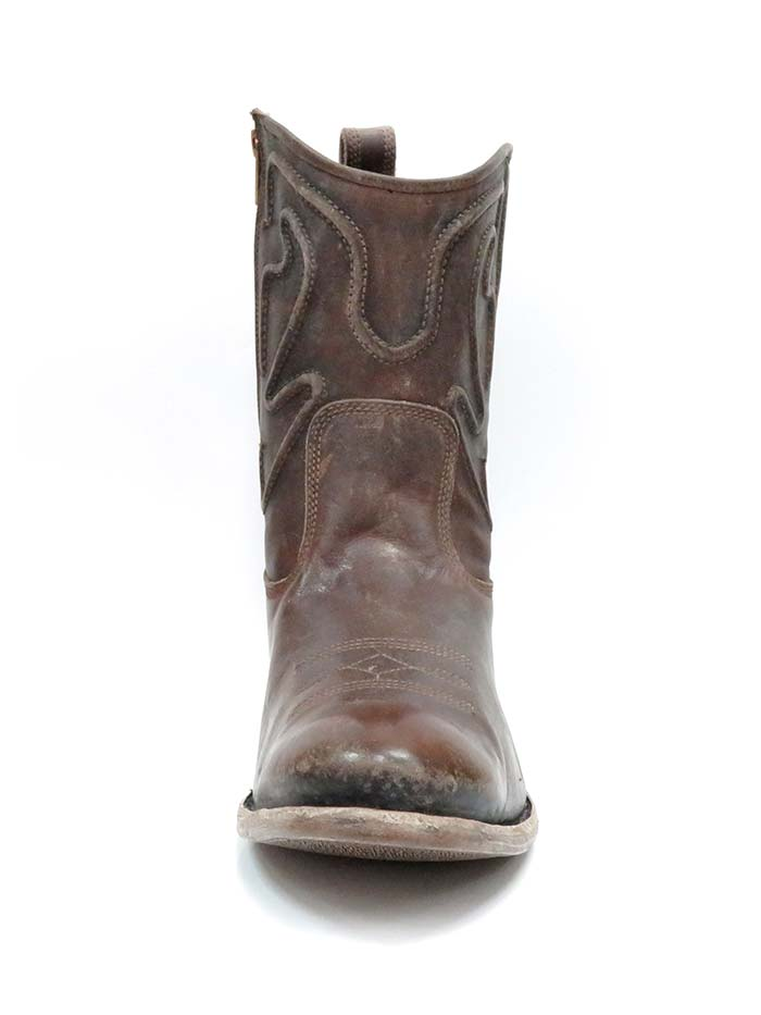 Corral G1450 Mens Embroidery Drum Finish Round Toe Boot Brown