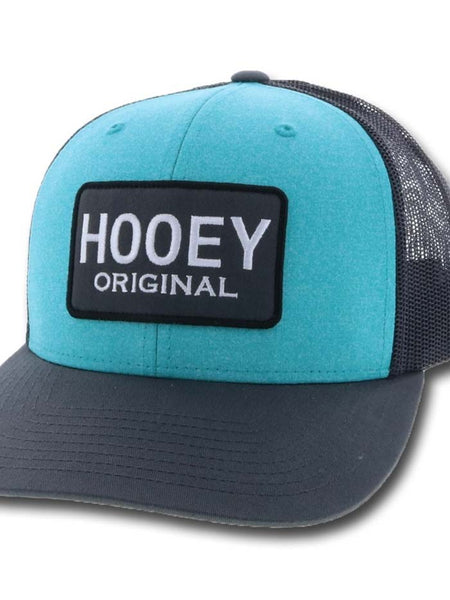 Hooey Original Aqua and Gray 6 Panel Cap 1830T-AQGY