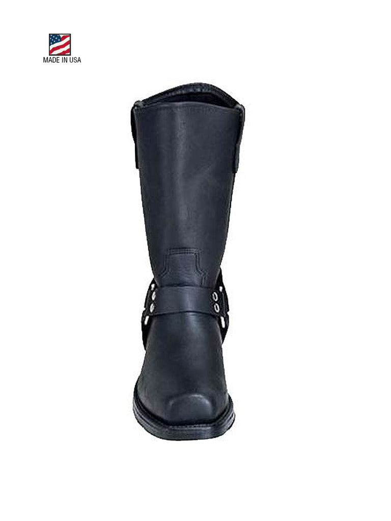 "Double H 4008 Mens 10"" Domestic Harness Boot Black"