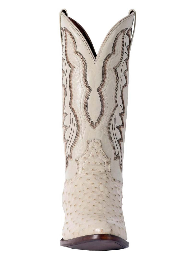 Dan Post Mens White Pershing Full Quill Ostrich Boot DP3015