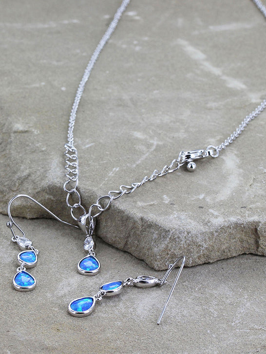 Montana Silversmiths JS3629 River of Lights Falling into Water Jewelry Set