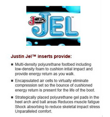 Justin Jel Round Toe Boot Inserts SOX9624