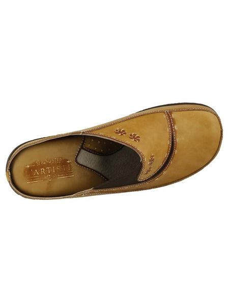Women's Spring Step Natural L'Artiste Chino Slip On Clog - CHINO-NA