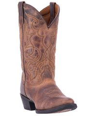 Laredo Maddie Brown Leather Ladies Boot - 51112