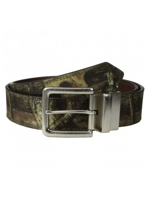 John Deere Mens Camo Canvas Leather Belt 4554500 John Deere - J.C. Western® Wear