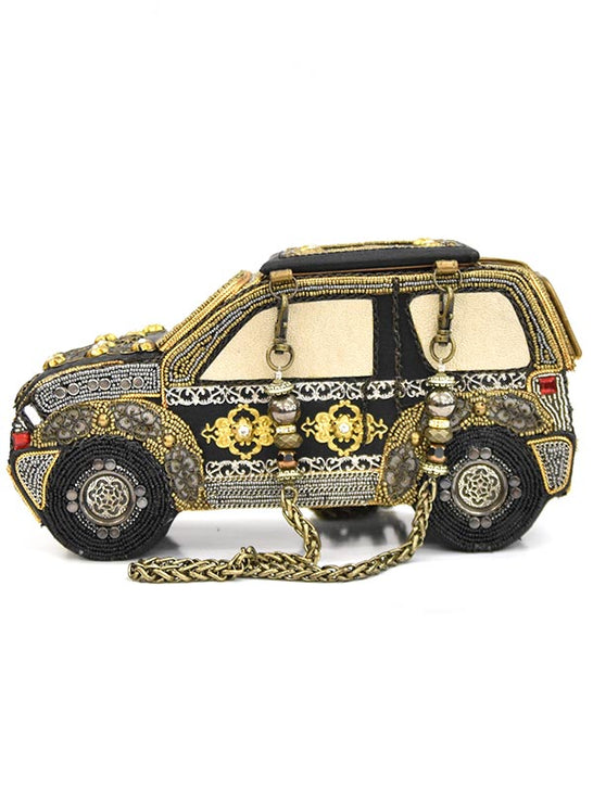 Mary Frances Handmade Beaded Car Western Purse 14853 side