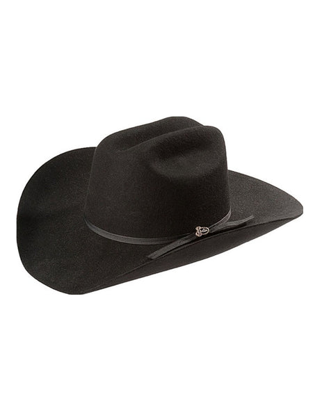 60527257b36 ... J.C. Western® Wear. Justin 2X Roper Black Wool Hat - JF0242ROPE