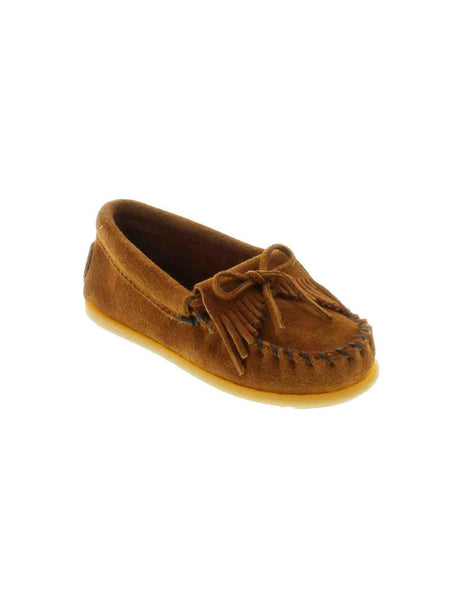 Minnetonka 2402 Kid's Kilty Suede Moc Brown