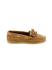 Women's Minnetonka Moosehide Fringed Kilty 390 Natural