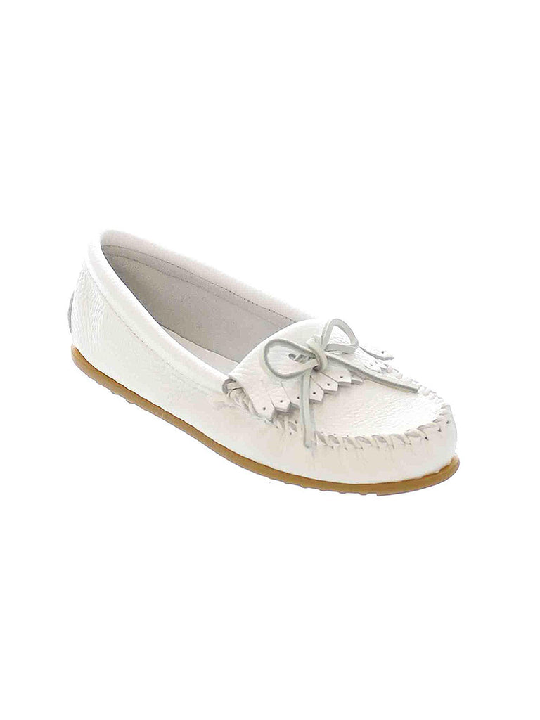 Minnetonka 64 Women's Deerskin Soft Moc White