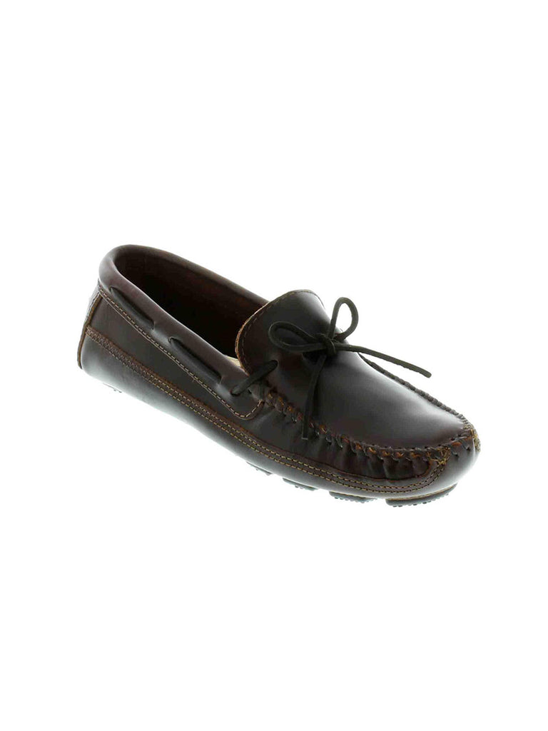 Men's Minnetonka Double Bottom Driving MOC 948 Dark Brown