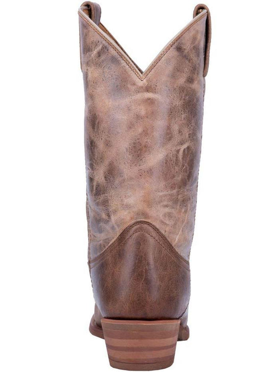 Back of Dingo Mens Brown Leather R Toe Western Boots DI5771