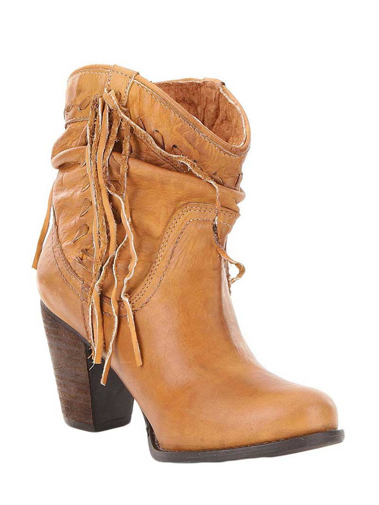 united states online store save off Naughty Monkey Noe Tan Leather Fringe Ankle Boots NMLB0128-251