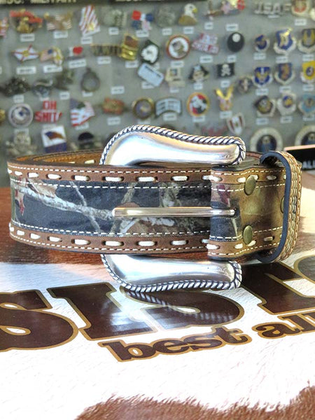 Nocona Mens LARGE SIZE Mossy Oak Stitching Belt N24872222-LG