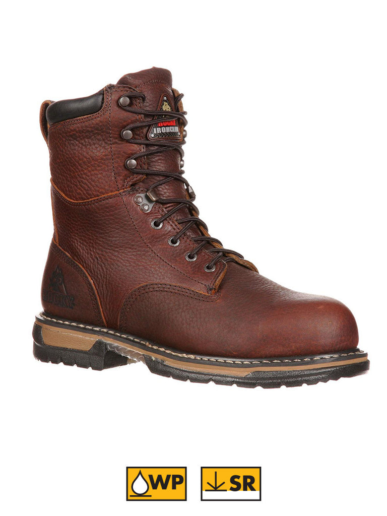"Men's 8"" Rocky IronClad Waterproof Work Boots 5693 Rocky - J.C. Western® Wear"