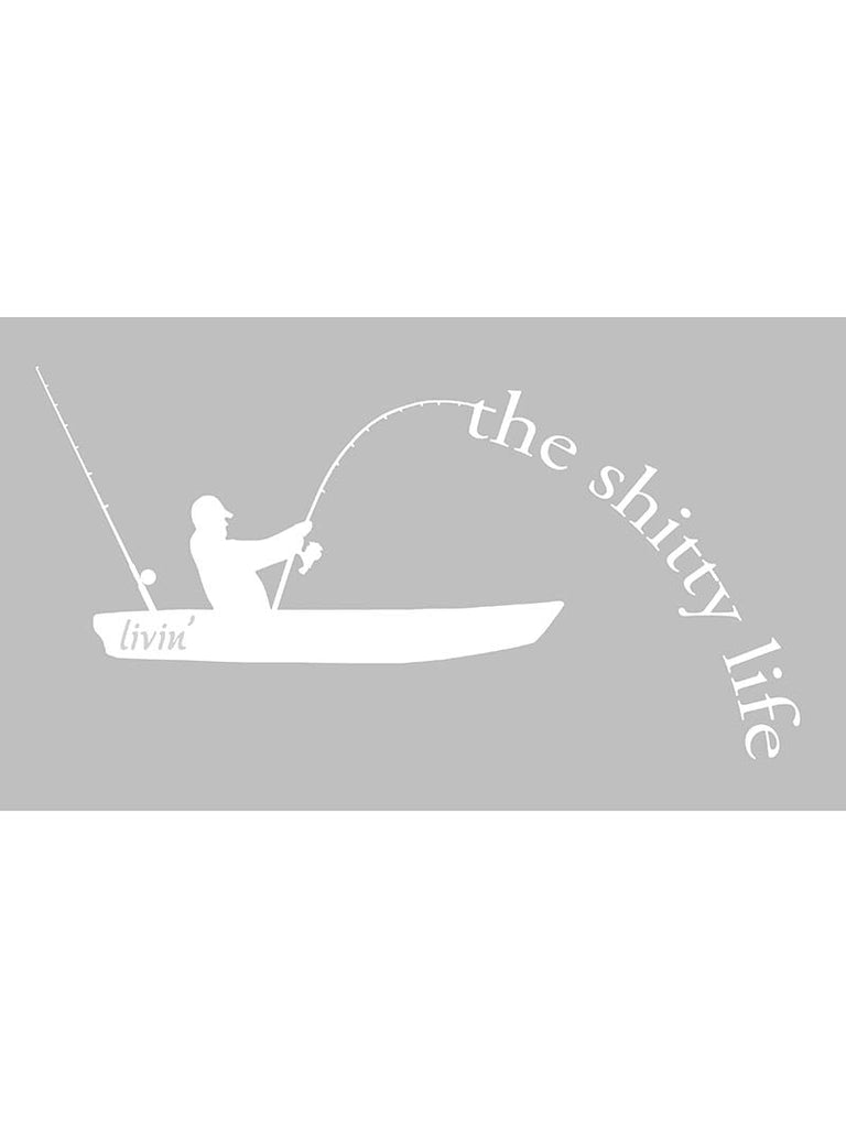 "The Shitty Life Bumper Decal Sticker - 12"" X 7"""