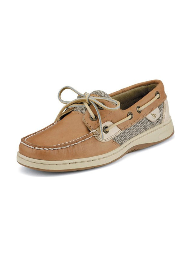 Womens Sperry Bluefish Linen 2-Eye Boat Shoe