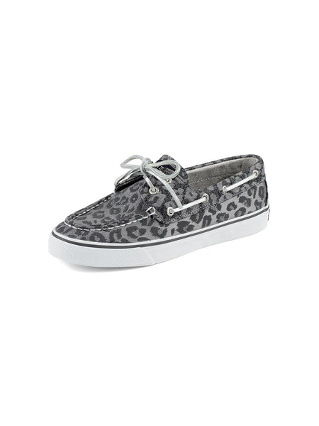Women's Sperry Black Leopard Bahama Sparkle 2-Eye Boat Shoe
