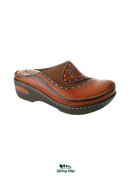 Women's Spring Step Chino Camel Slip On Clog - L'Artiste Collection CHINO-CA J.C. Western® Wear - J.C. Western® Wear