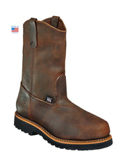 Thorogood 804-3310 Mens Wellington Safety Toe Work Boot Brown Thorogood Workboot 804-3310