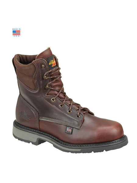 "Men's Thorogood 8"" American Heritage Work Boot Safety Toe- 804-4204 Side"